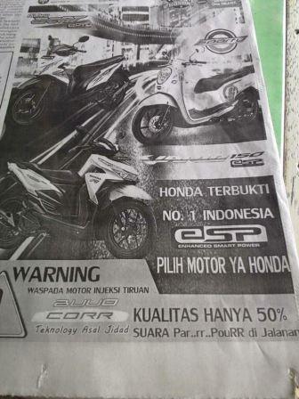 iklan black campaign Honda