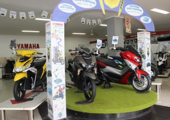 Display motor Yamaha di Main Dealer STSJ di Banjarmasin