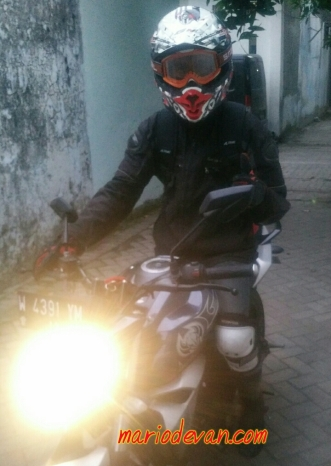 Test ride Yamaha byson fi