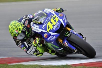 Rossi saat uji coba di qatar