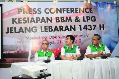 Pres conference kesiapan bbm dan lpg jelang lebaran 2016