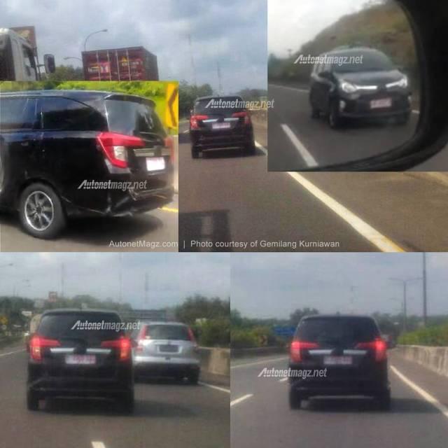 Foto Toyota Calya dijalan