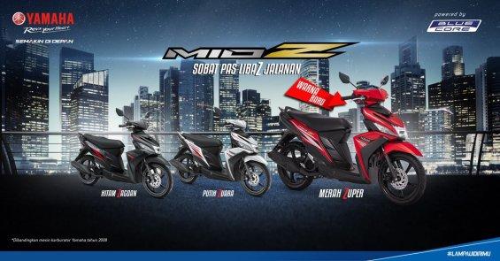 Warna terbaru 2016 Yamaha Mio Z, warna Merah