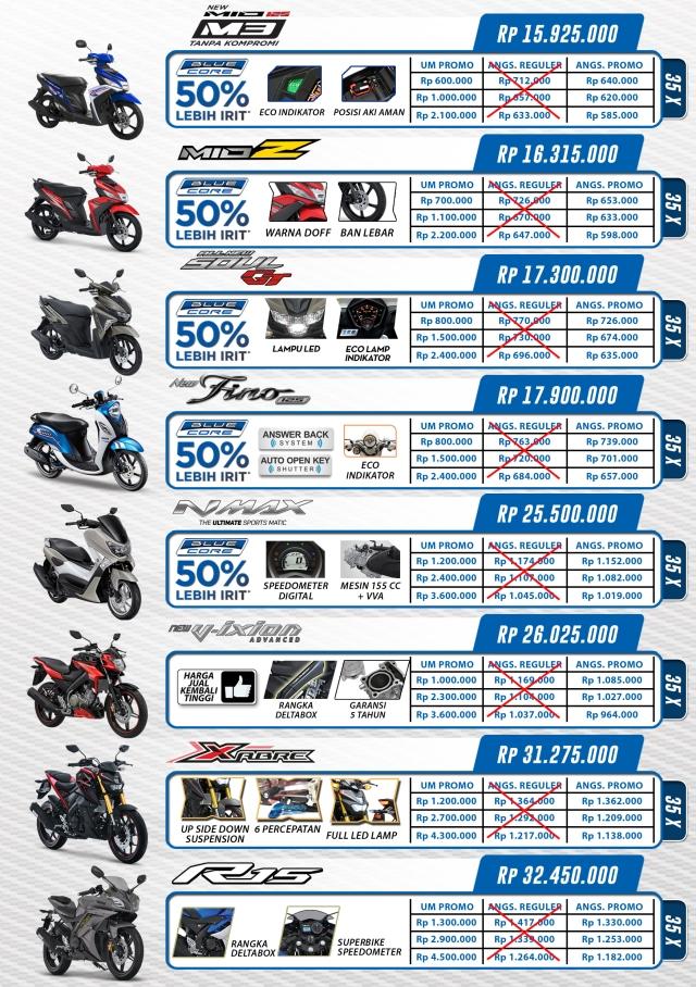 Daftar harga motor yamaha agustus 2016
