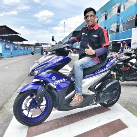 test ride Yamaha Aerox di sentul