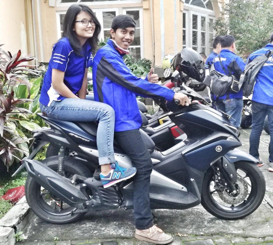 Posisi boncengan dengan Yamaha Aerox! sporty habis