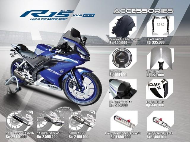aksesoris resmi Yamaha R15 vva