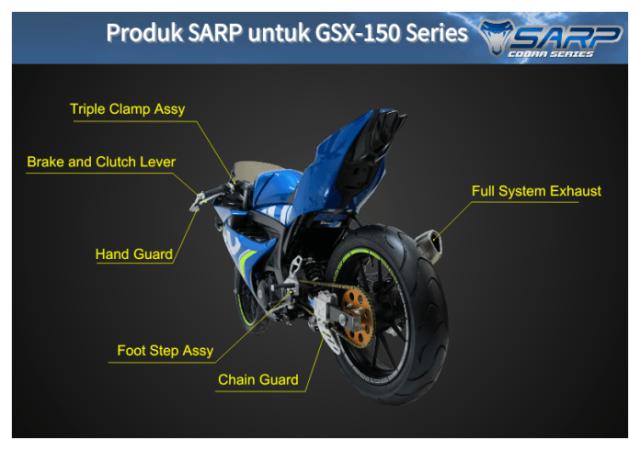 SARP Cobra series untuk suzuki GSX
