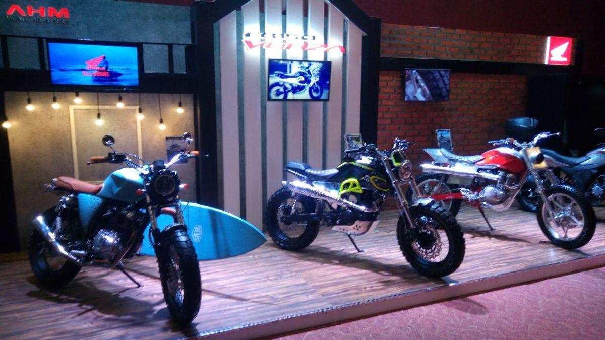 Ada modifan bergaya scrambler di launching Honda CB150 Verza!