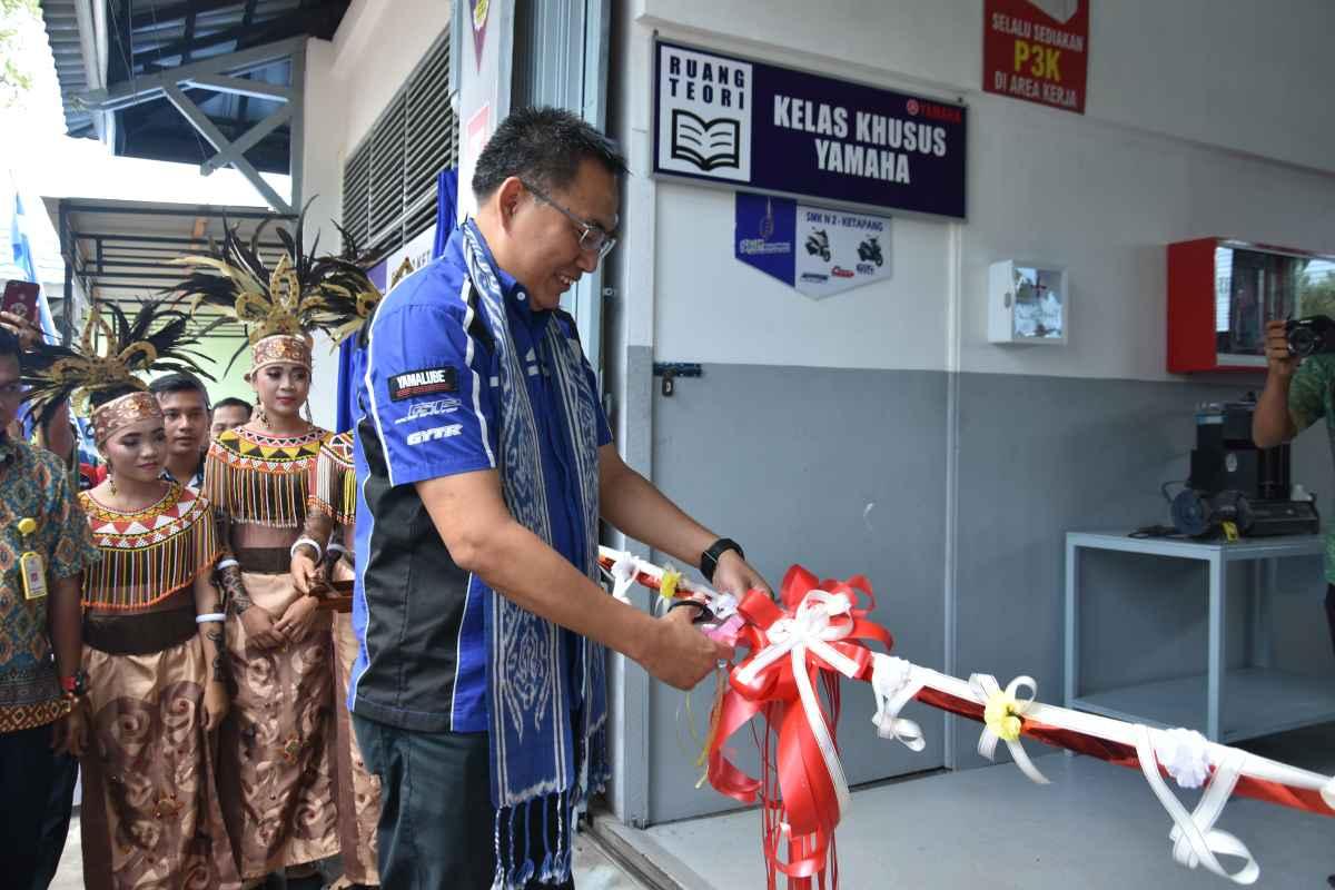 Press Release : Meningkatkan Kompetensi Siswa, Yamaha Resmikan SMK Kelas Khusus di Ketapang